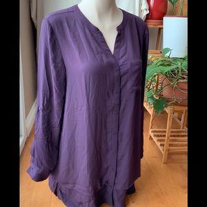 NWT Purple flowy long sleeves shirt